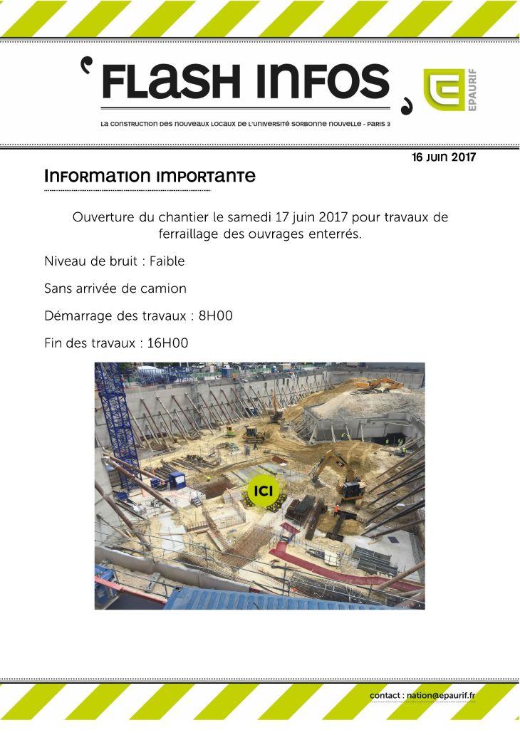 Ouverture du chantier samedi 17 juin 2017