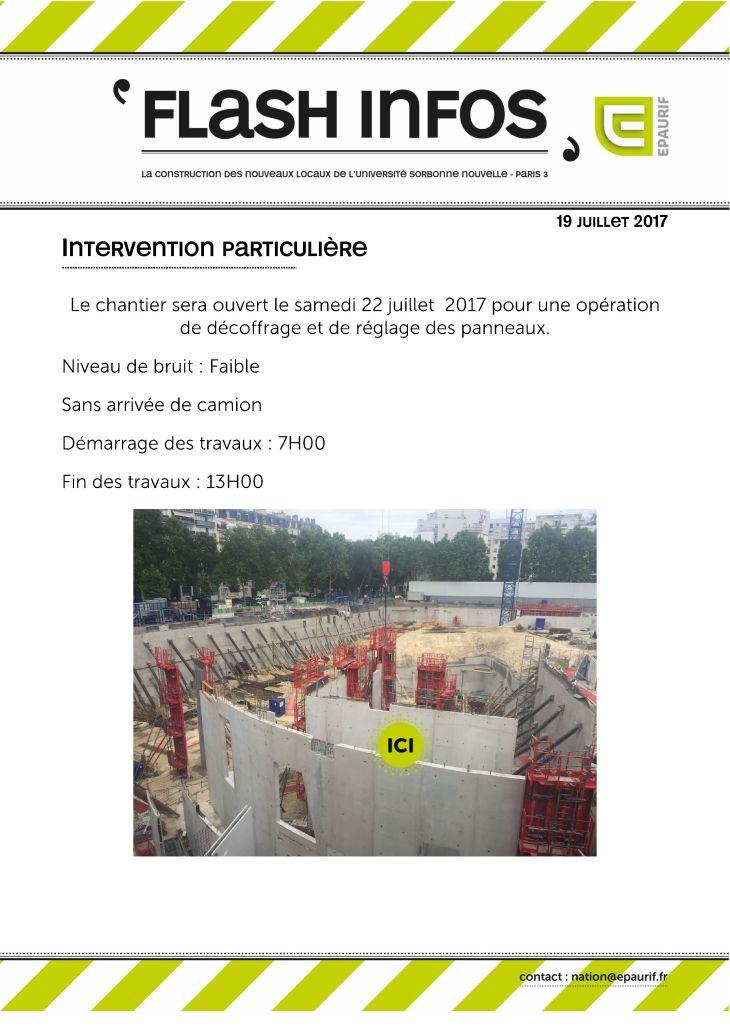 Ouverture du chantier samedi 22 juillet 2017