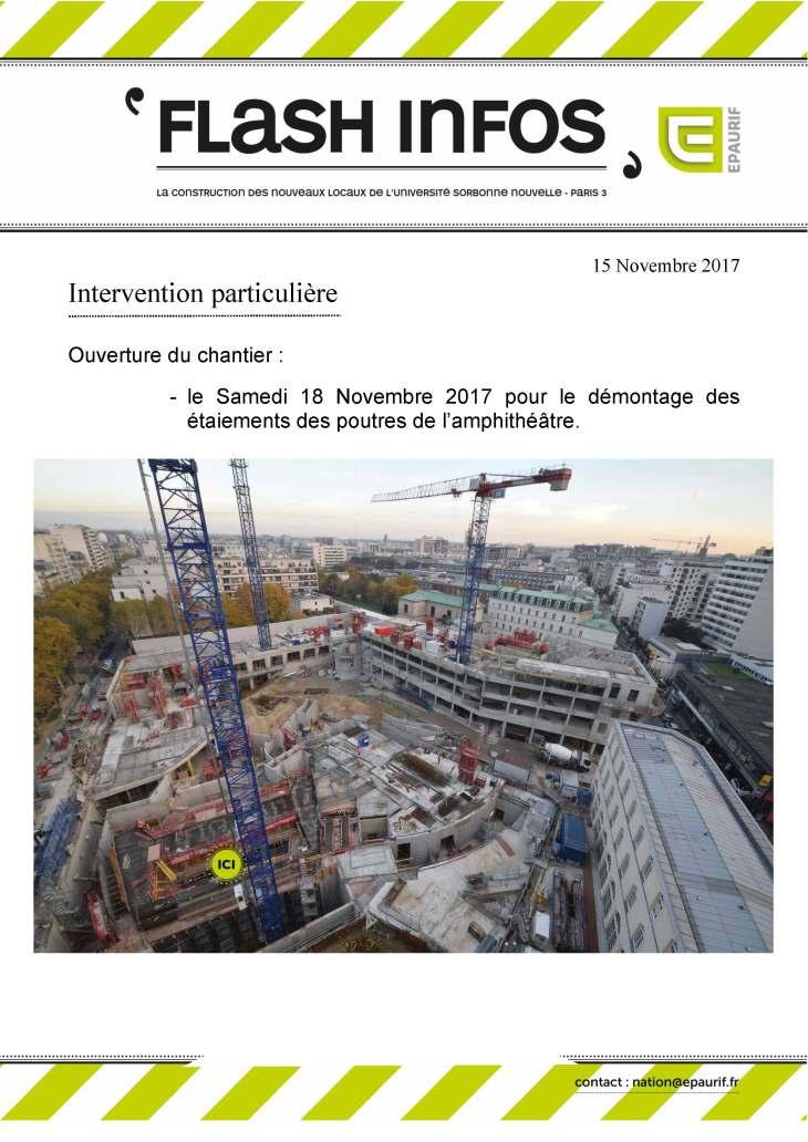 Ouverture du chantier samedi 18 novembre 2017