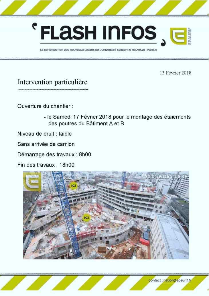 Flash Info - samedi 17 -02-18