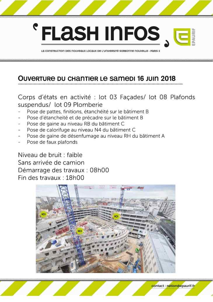 Ouverture du chantier le samedi 16 juin 2018