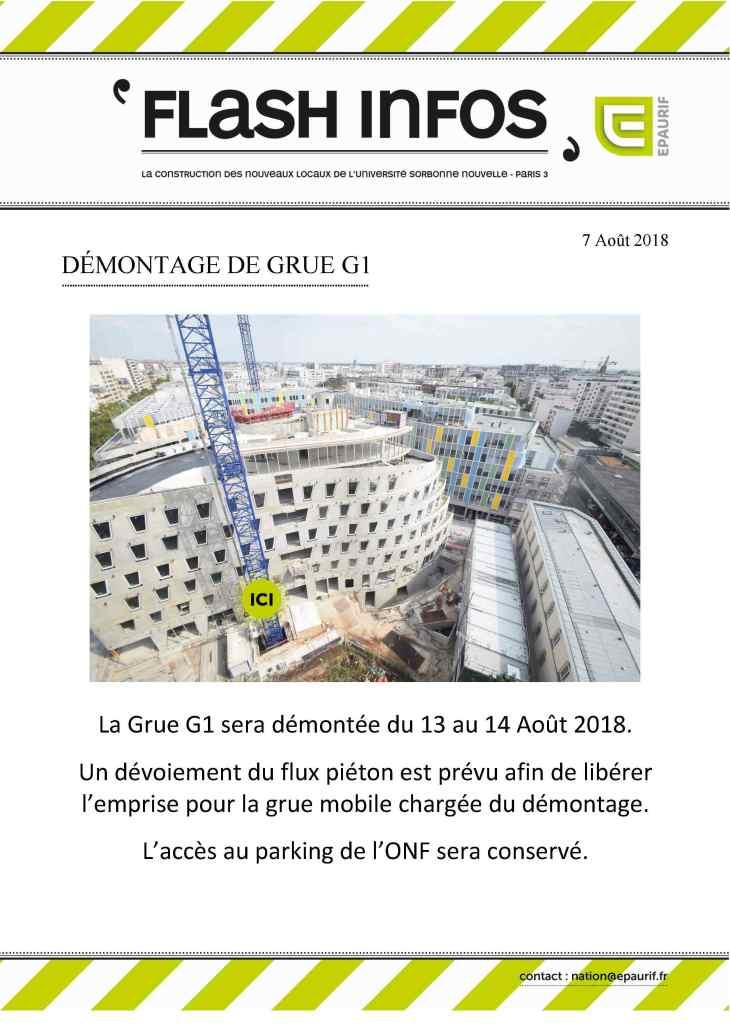 Flash Info - Démontage de la grue G1